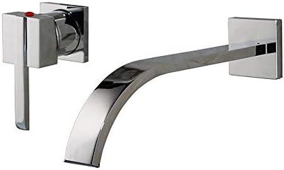 クローム浴室のシンクの蛇口と温水と冷水の真鍮の壁に取り付けられた浴室のシンクミキサータップクリエイティブシングルハンドルホテル、ヴィラの2穴流域の蛇口