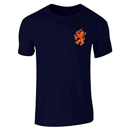 Dutch Soccer Retro National Team Holland Navy Blue XL Short Sleeve T-Shirt ()