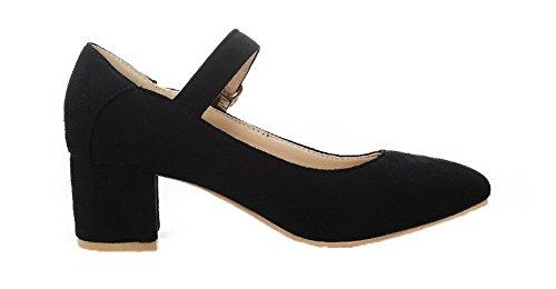 liso cerrada 31 cerrado mujeres punta para Odomolor con Calzado negro de corte ATqYPwEH