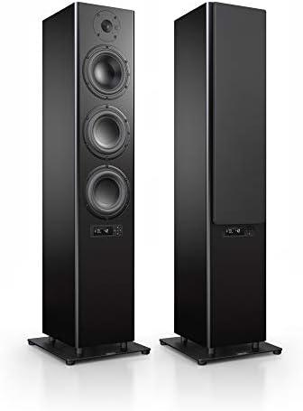 Nubert nuPro A-700 Standlautsprecherpaar | Lautsprecher für Stereo & Musik | Heimkino & HiFi Qualität auf hohem Niveau | aktive Standboxen mit 3 Wege Technik | Standlautsprecherset Schwarz | 2 Stück
