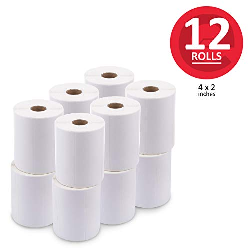 (enKo [12 Rolls / 9000 Labels] 4 x 2