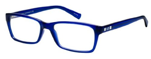 Armani Exchange AX3007 Eyeglass Frames 8018-53 - Marine Transparent AX3007-8018-53