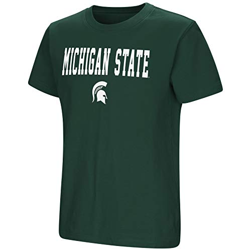 Colosseum NCAA Youth Boys-Talk The Talk-Cotton T-Shirt-Michigan State Spartans-Green-Youth Large