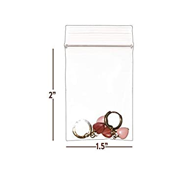 Amazon.com: Bolsas con cremallera de plástico transparente ...