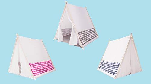 Casa Campaña De Madera Armable Montessori Nordico Camp Kit Interior