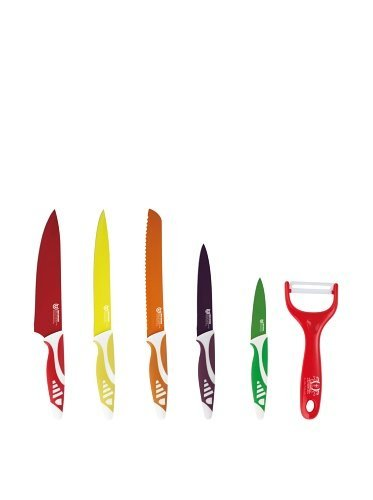 Keramikmesser 6 Piece Ceramic Knife Set – Colored Sharp Durable Long Lasting Silicone Knife Set – For Your Kitchen – Latest Hot Buy for Your Everyday Cooking – Precise Cutting Advantages – Best Lifetime Guarantee