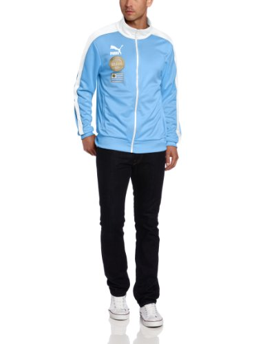 PUMA Men's Football Archives T7 Track Jacket, Silver Lake Blue/AUF Uruguay, - Jacket Womens Woven Puma