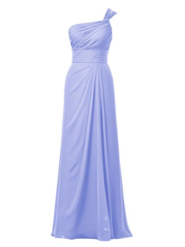 Evening Lavender Bridesmaid Long Dress Dress Chiffon Asymmetric Bridal Party Women's Alicepub wvnqx01ET6