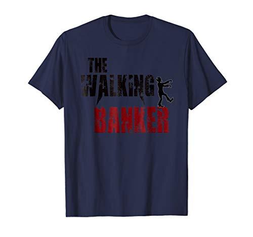 Banker gift t shirts, walking banking zombie bank tees -