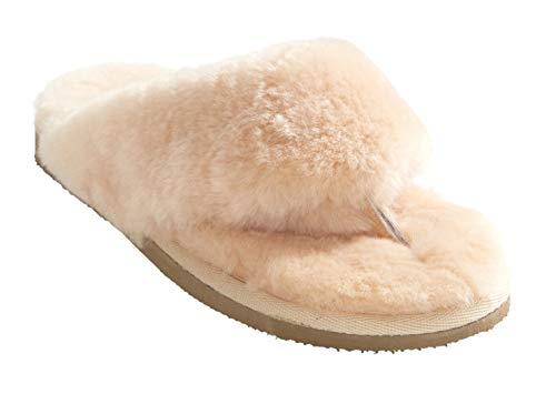 Ladies Peach Slippers Sheepskin Toe Shepherd Post Pernilla 70q5F