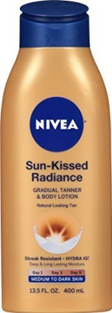 Nivea Sun-Kissed Radiance Gradual Tanner & Body Lotion, Medium to Dark Skin, 13.5 Fluid Ounce