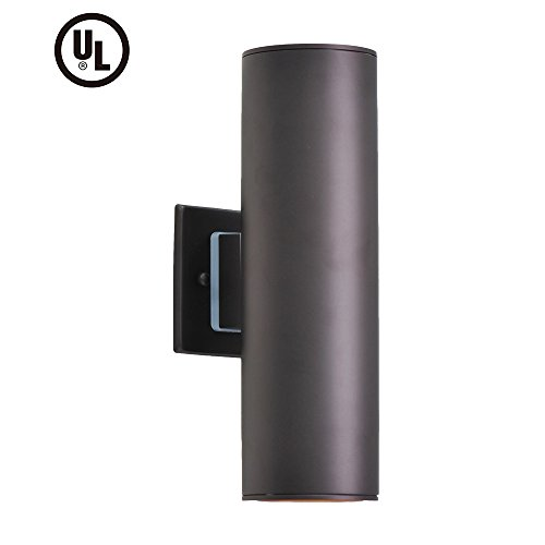 - Outdoor Wall Light - UL LISTED Porch Light Fixture, IP54 Waterproof Wall Sconce, Stainless Steel 304 Cylinder for Garden & Patio, Housen Solutions