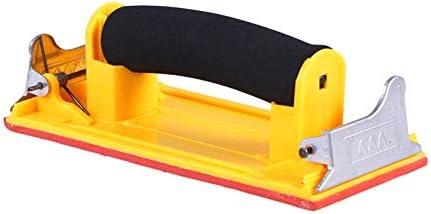 LAQI Handgriff-Schleifpapierhalter-Schwammgriff-Handschleifpapier-Rahmen-Schleifen-Polierwerkzeuge, gelb