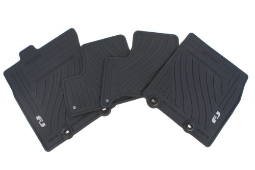 Genuine Toyota Accessories PT206-35110-21 Front and Rear All-Weather Floor Mat (Black), Set of 4 (Toyota Fj Cruiser Custom Mats)