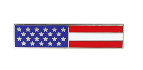 Official US Flag Service Bar Stars and Stripes Uniform Pin (Value Pack) (1 pin) - American Flag Pin Bar
