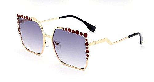 inspirées Lennon vintage cercle rond polarisées retro du en métallique style lunettes soleil Cendres Double de 8pRqtgx