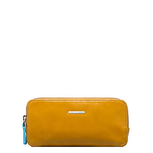 Piquadro Case with Three Dividers, Yellow, One Size by Piquadro