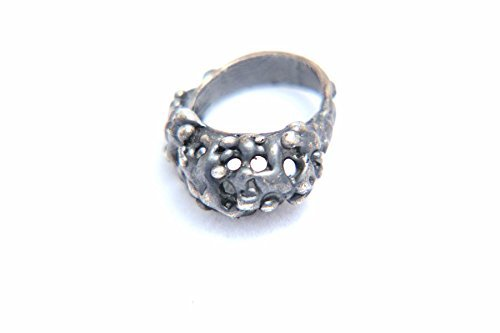 Oxidized Sand - Oxidized Sterling Silver Pinkie Sand Castle Ring