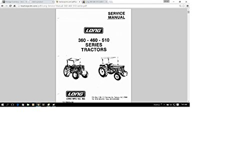 Best buy Long 360 460 510 2460 Series Tractor Service Repair Maintenance Manual