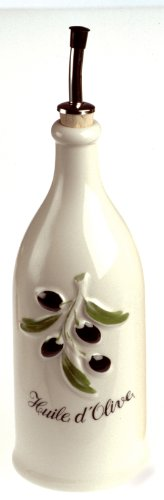 Ceramic Olive (Revol Grands Classiques Collection, 9-Inch Provence Olive-Oil Bottle, Creamy White)