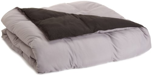 All Season Down Alternative Reversible Twin Extra Long Comforter, Black/Grey (Grand Down Alternative Comforter compare prices)