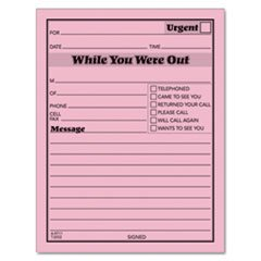 Tops 3002P Printed Message Pads,4-1/4''x5-1/2'', 50 Sht/Pad,12/PK, Pink