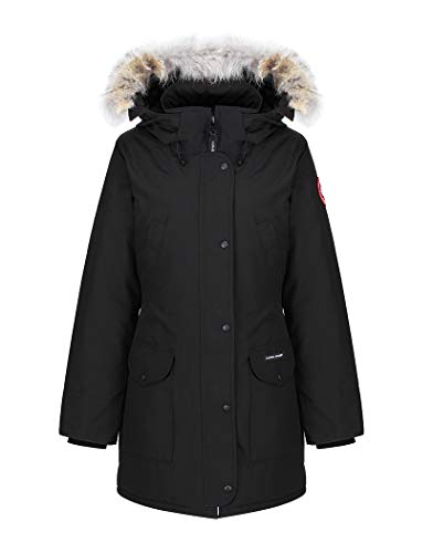 Parka Con Trillium Goose Noir Cappuccio Nero Canada 870U5x