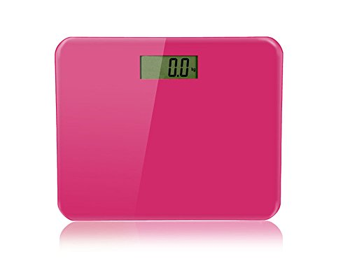 BlueBerry Fashion Weighting Body Scales 400lb Capacity Digital LCD Screen Decor for Bathroom, Bedroom & Living Room-(Pink)