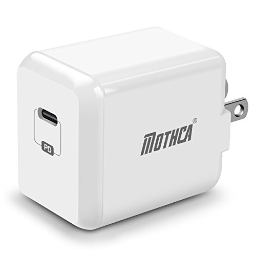 Mothca USB Type-C with Power Delivery Wall Charger 29W USB-C Power Adapter Fast Charge for iPhone X Xs Xs Max /8/Plus iPad Pro Nexus 5X / 6P, LG G5, Pixel C, Samsung S8/Note 8, New MacBook, Moto Z