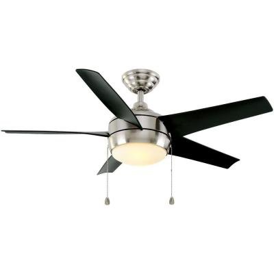 Home Decorators Collection 44 Inch Windward Brushed Nickel Ceiling Fan ()