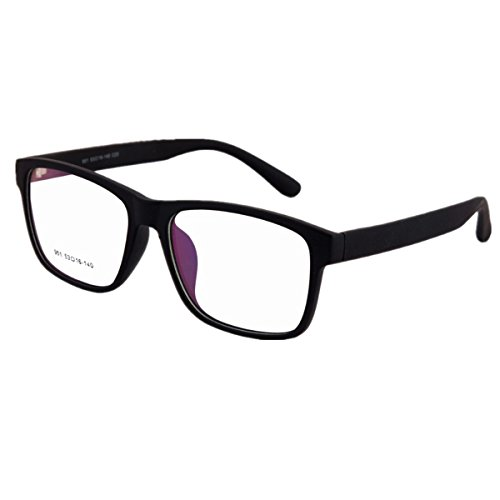 Oversize Myopia Shortsighted Glasses -1.00 Mens Womens Black Frame Spectacles Fashion Eyewear ***Please kindly note these are not reading (Fashion Note)
