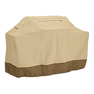 Classic Accessories Veranda Grill Cover - Durable BBQ Cover with Heavy-Duty Weather Resistant Fabric, Medium, 58-Inch