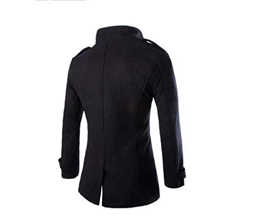 Cappotto Cappotto Cappotto Gentiluomo di l'inverno Black per Adong Adong Adong Giacca Cappotto Lana Antivento Caldo S Giacca Uomo 8qnwHwaxEI