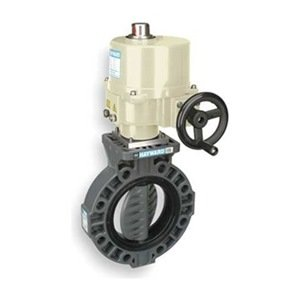 """Hayward BY Series PVC Butterfly Valve, Electronic Actuated, Viton Seat, 4"""" by Hayward"""