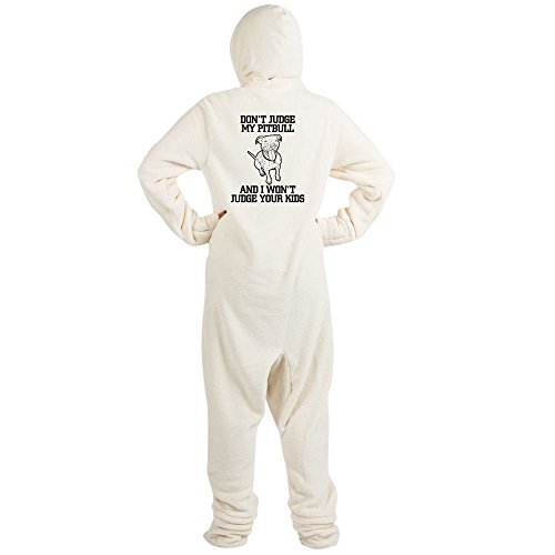 CafePress - Pitbull - Novelty Footed Pajamas, Funny Adult One-Piece PJ Sleepwear (Bunny Onesies For Adults)
