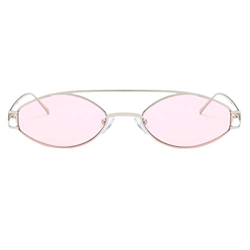 Homyl para 400 Protección Metal Hombre Marco UV Mujer Lentes Regalo de Solar rosado Elípticas Gafas Unisex Sol rFBqOAwrP