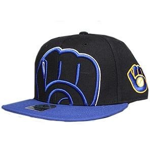 Milwaukee Brewers Two Tone Blackout Colossal MVP Hat