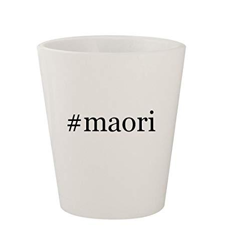 #maori - Ceramic White Hashtag 1.5oz Shot Glass