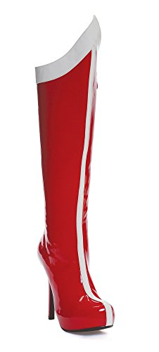 ELLIE 517 COMET Womens Red w/ White Boots, Size - 10