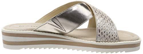 Marc Nude Beige caruso laminato Donna Plateau Sandali Mona platino Con 00781 Shoes rrSTZ