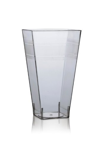 Fineline Settings Wavetrends Clear Square 16 oz. Tumbler  168 Pieces