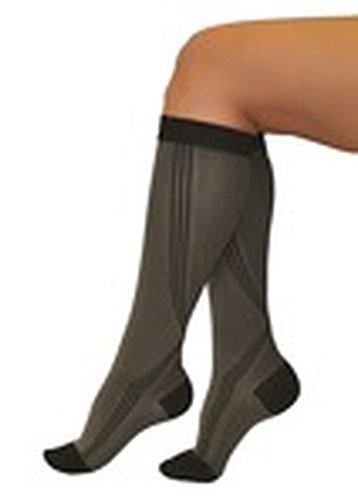 "Tonus Activ Elastic medical compression long socks, unisex - 18-21 mmHg - Sock Length 62.2""-66.9"" - Medium (gray/black)"