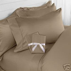 - Solid Taupe 450 Thread Count Olympic Queen size Sheet Set 100% Cotton 4pc bed sheet set Deep Pocket, 450 TC