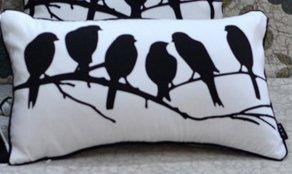 30 *50 Cm, Schwarz/weiß Aufdruck Vögel Dekokissen Kissen Für Massageliege  Geschenk,