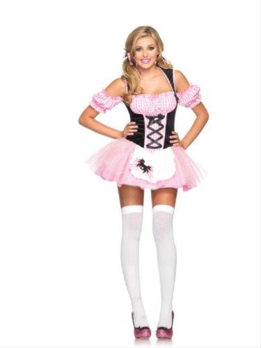 - Halloween Costume Gingham Miss Muffet (Pink, S/M)