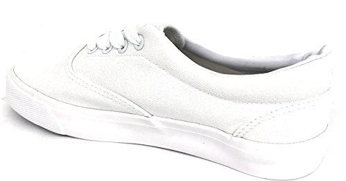 Dream Seek Big Kids / Heren / Heren Unisex 717 Canvas Veter Mode Sneaker Schoenen Wit (dames)