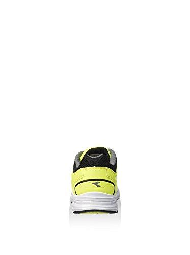 Diadora - Zapatillas de voleibol para hombre Amarillo Flúor / Negro