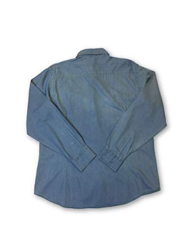 M algod de azul claro Camisa Perfecto Agave mezclilla en talla R8qwAAzTdx