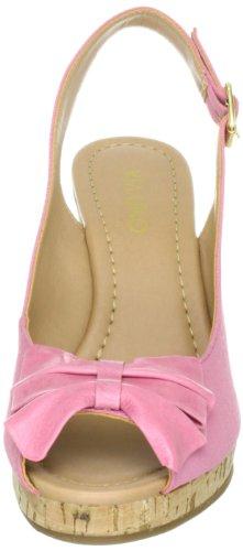 Via Uno Textil-Leather Grosgrain Padova 21185604 Damen  Klassische Sandalen Pink (Pink)