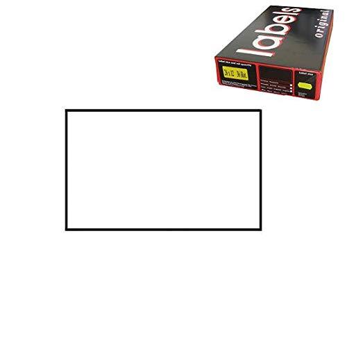 26x16 Rettangolare Scatola 36 Rotoli Etichette per Prezzatrice Bianco Permanente